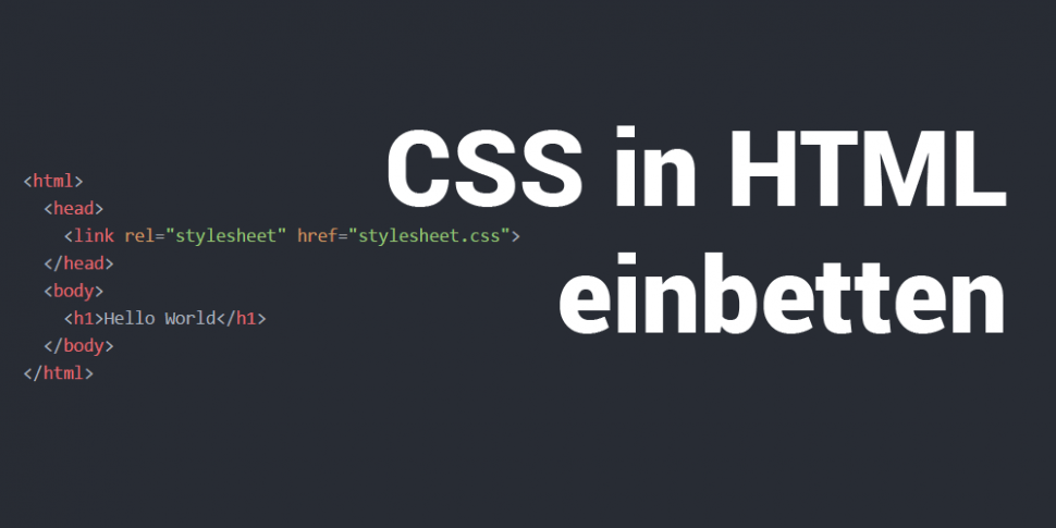 CSS in HTML einbetten