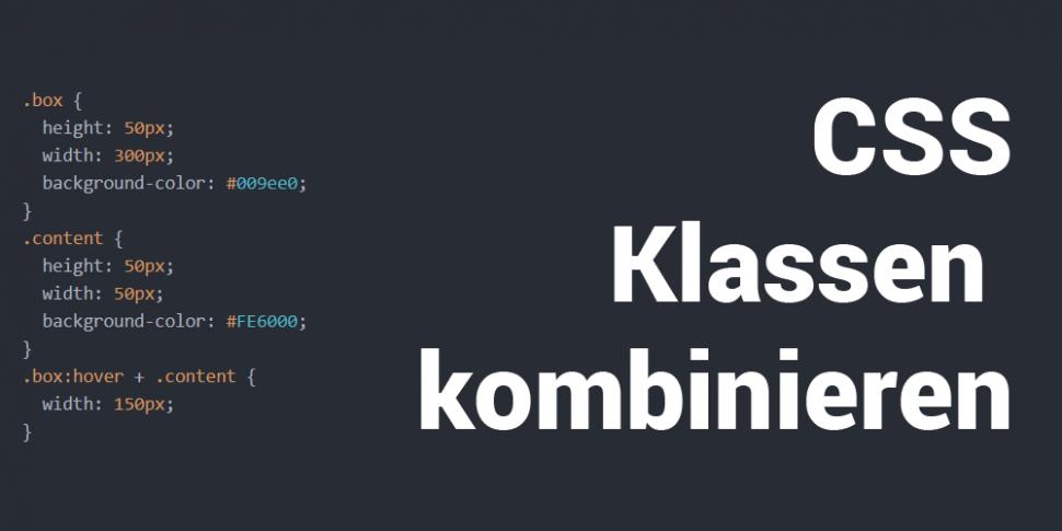 CSS Klassen kombinieren Teaser