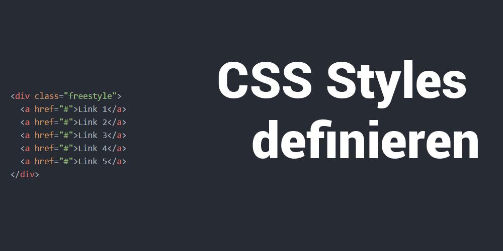CSS Styles definieren