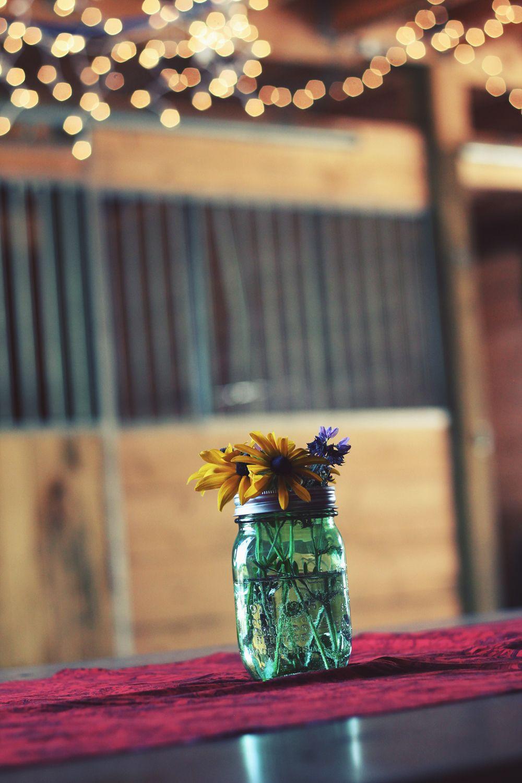 Blumenstrauß im Glas