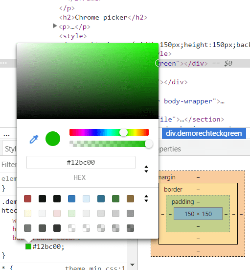 Chrome Color Picker