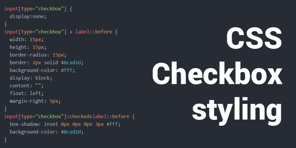 CSS Checkbox styling teaser