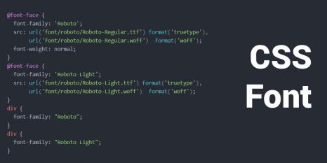 CSS Font Teaser