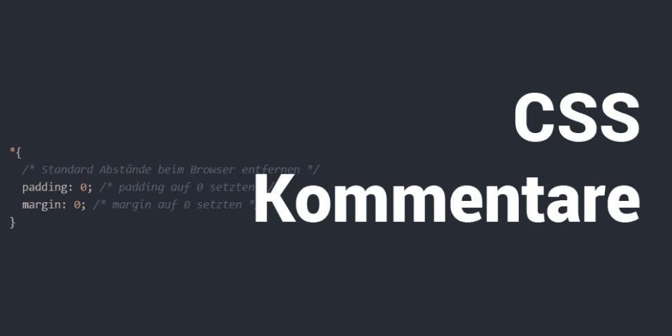 CSS Kommentare Teaser