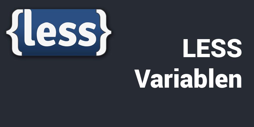 LESS Variablen