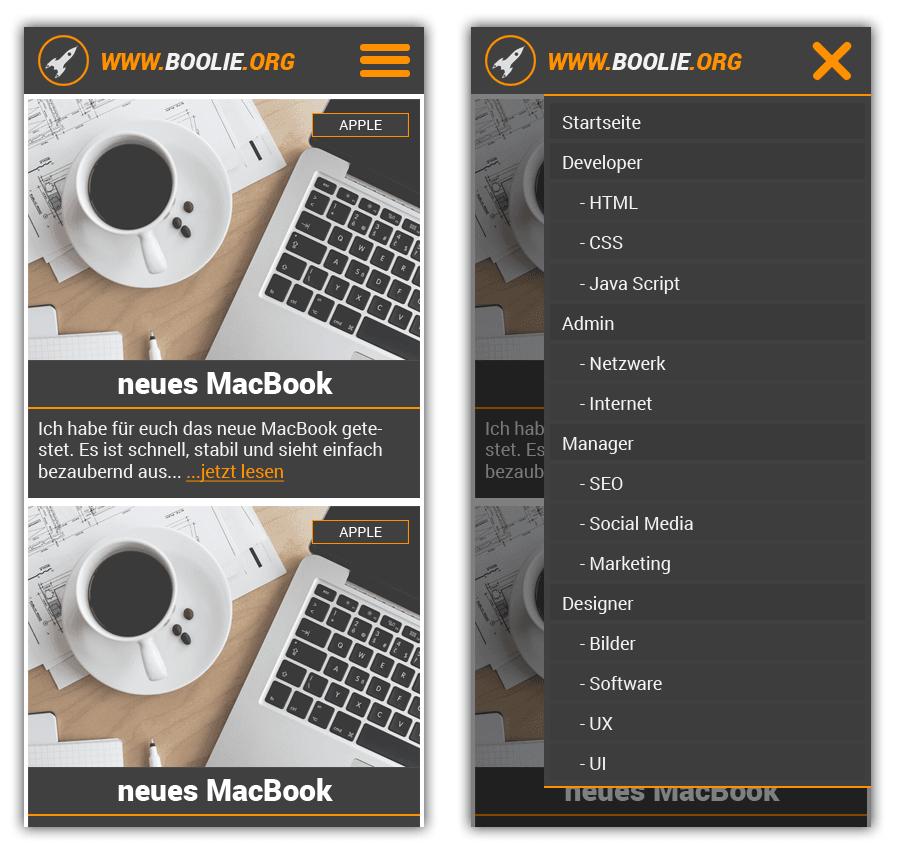 WPBoolie Design Mobile