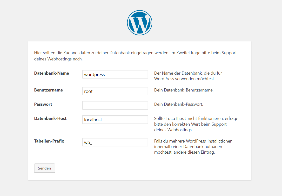 Wordpress installation SQL