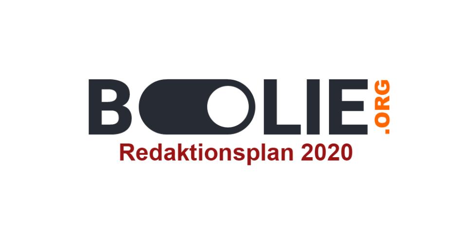Boolie Logo Redaktionsplan 2020