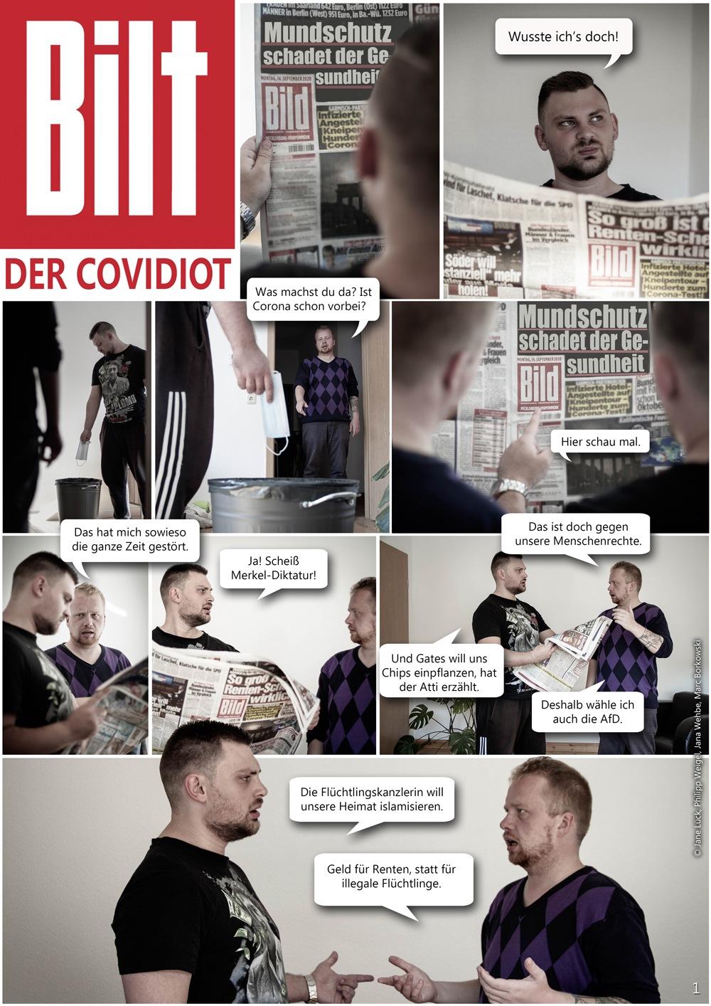 Fotostory Covidiot Seite 1