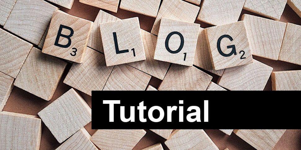 blog tutorial