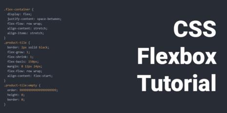 css flexbox tutorial teaser mit code