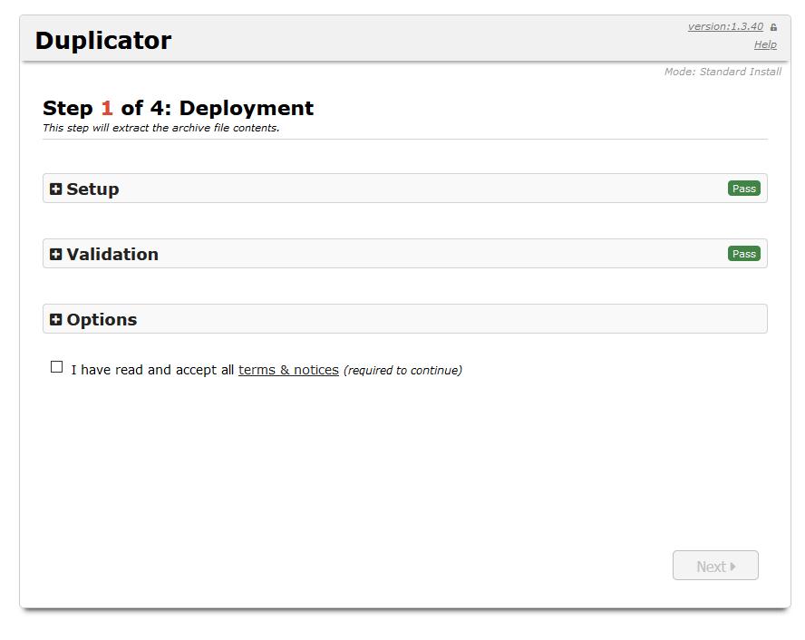 duplicator backup installer