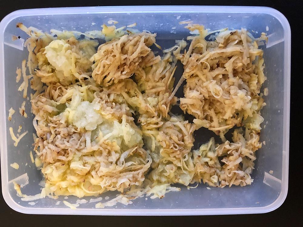 Zwiebel Kartoffel gerieben
