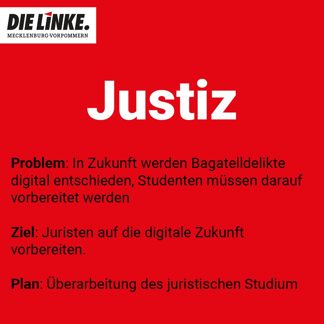 die linke mecklenburg vorpommern mv Stellung zu digitale Justiz 2021