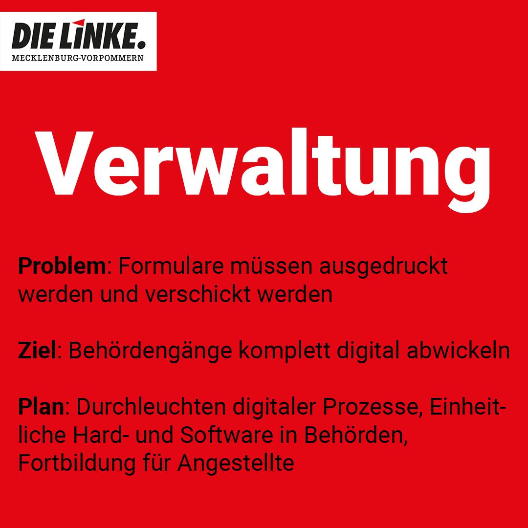die linke mecklenburg vorpommern mv Stellung zu digitale Verwaltung 2021
