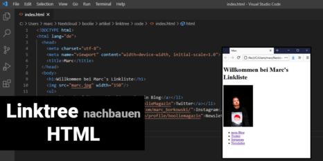 linktree nachbauen html geruest