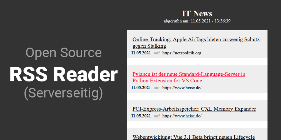 php rss reader open source